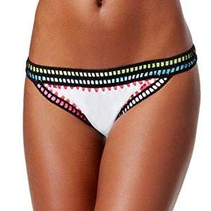 Bar III Womens Weave It Crochet Trim Bikini Bottom